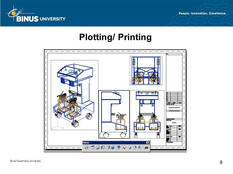 Bina Nusantara University 8 Plotting/ Printing