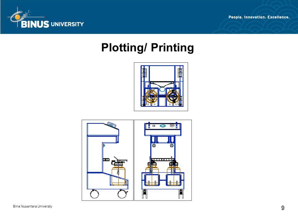 Bina Nusantara University 9 Plotting/ Printing