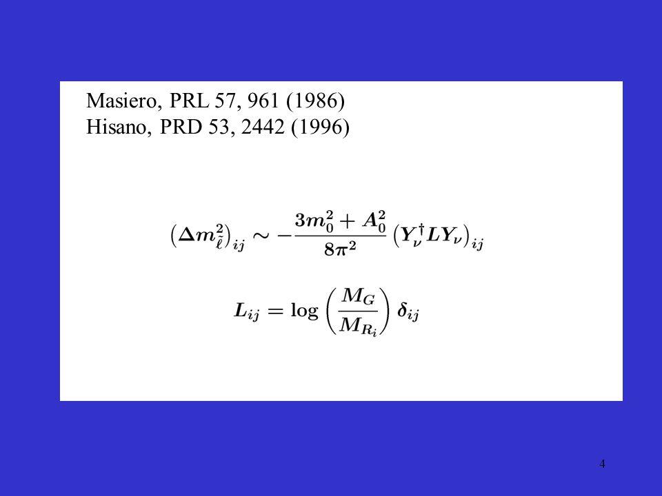 4 Masiero, PRL 57, 961 (1986) Hisano, PRD 53, 2442 (1996)