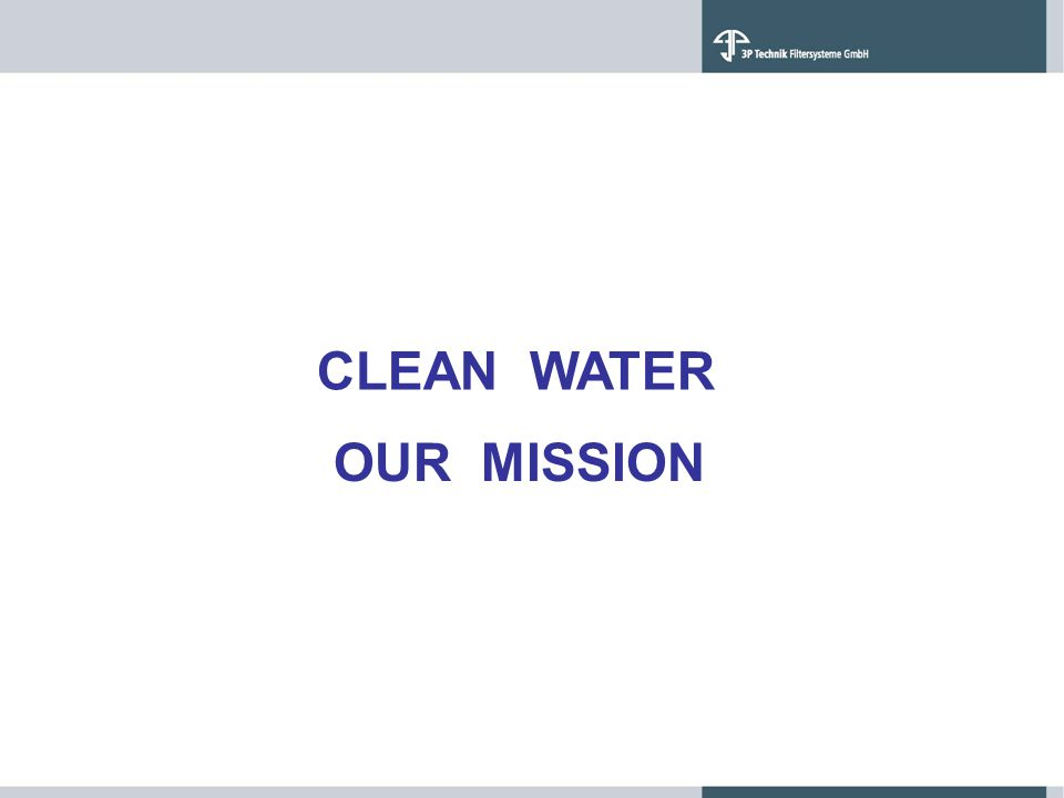 CLEAN WATER OUR MISSION