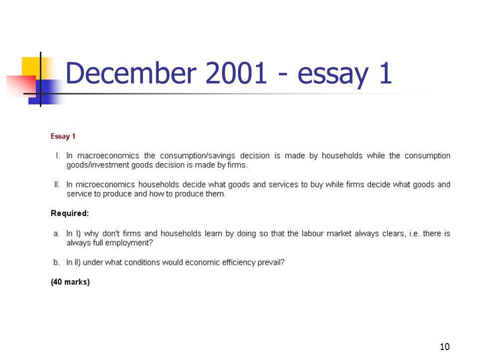10 December 2001 - essay 1
