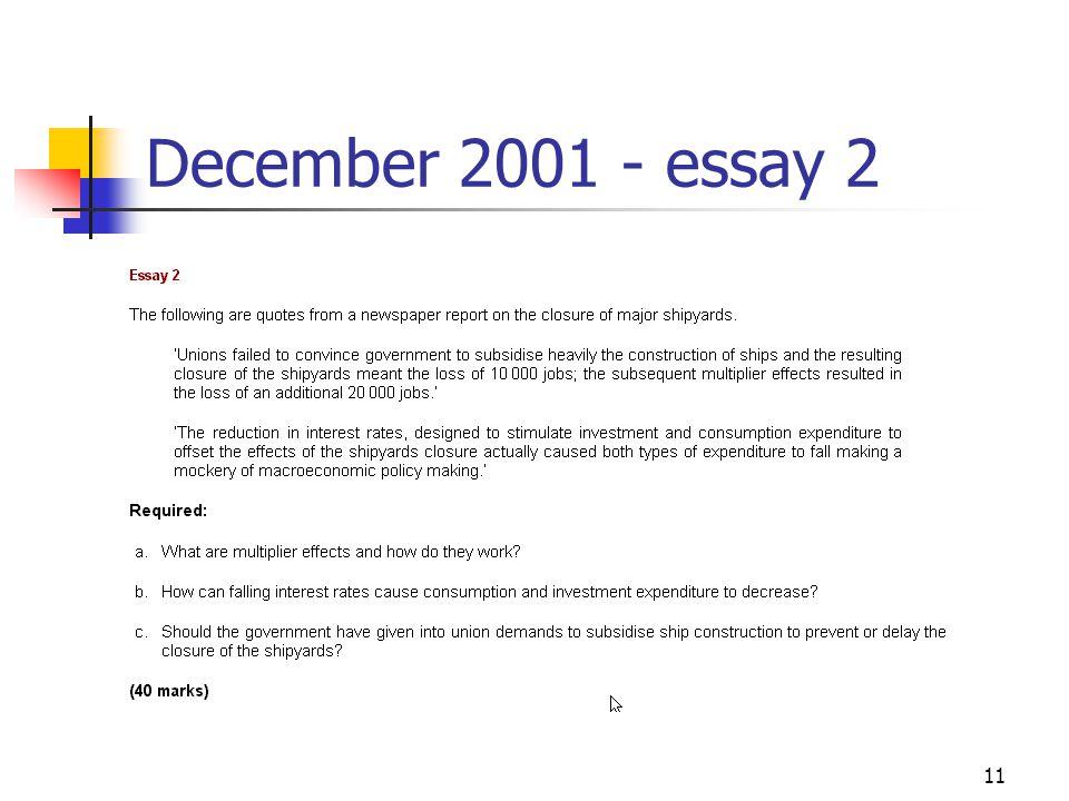 11 December 2001 - essay 2