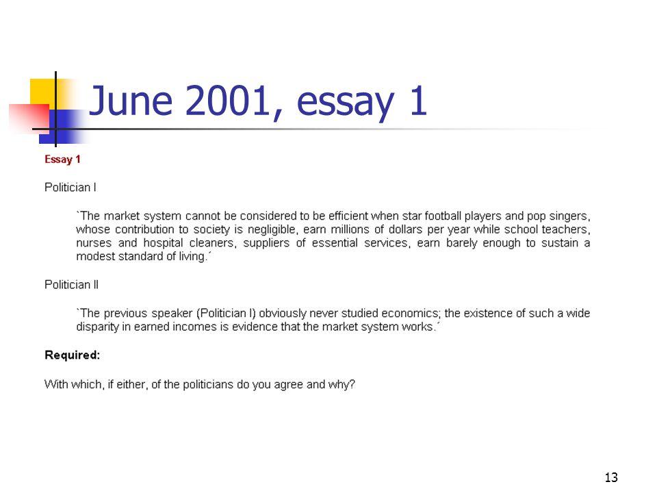 13 June 2001, essay 1