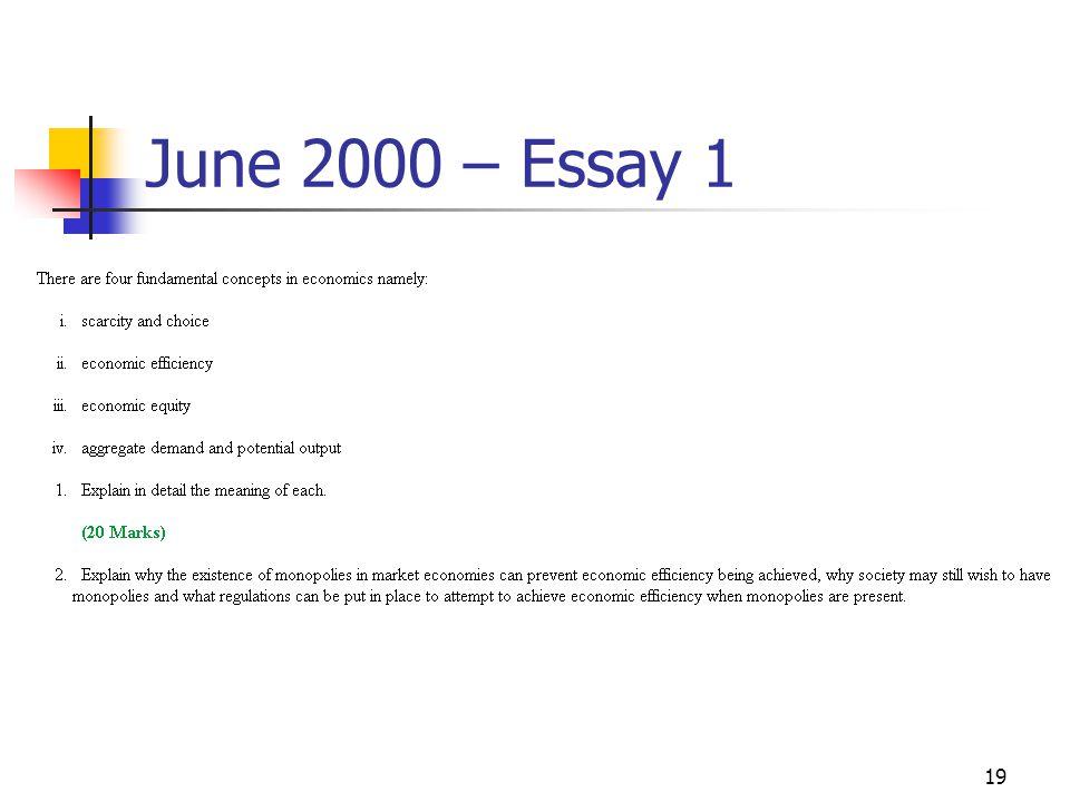 19 June 2000 – Essay 1