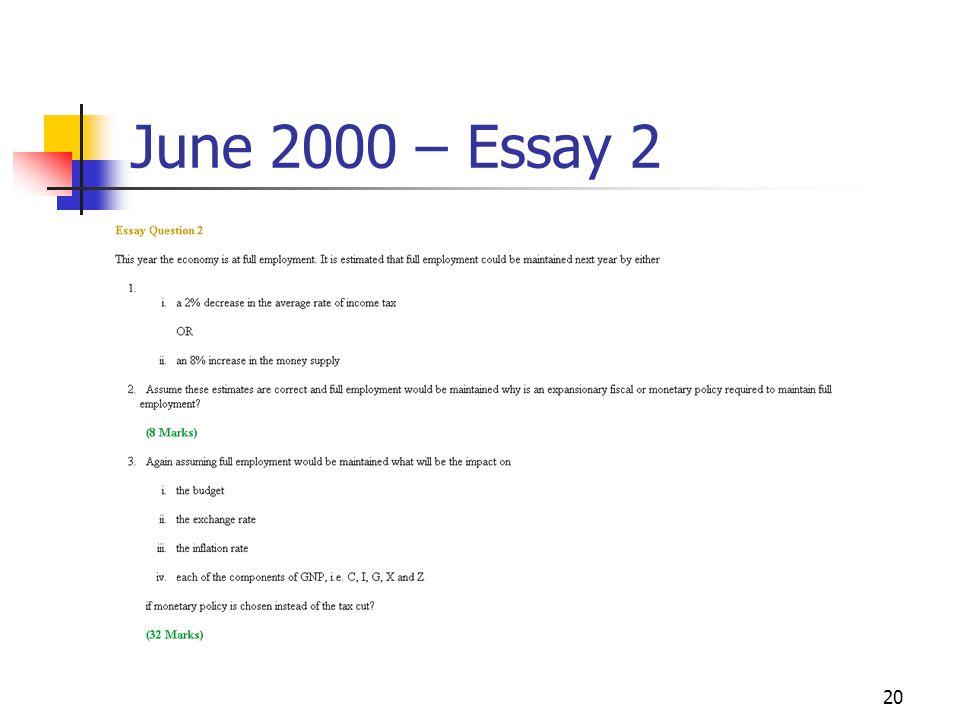 20 June 2000 – Essay 2