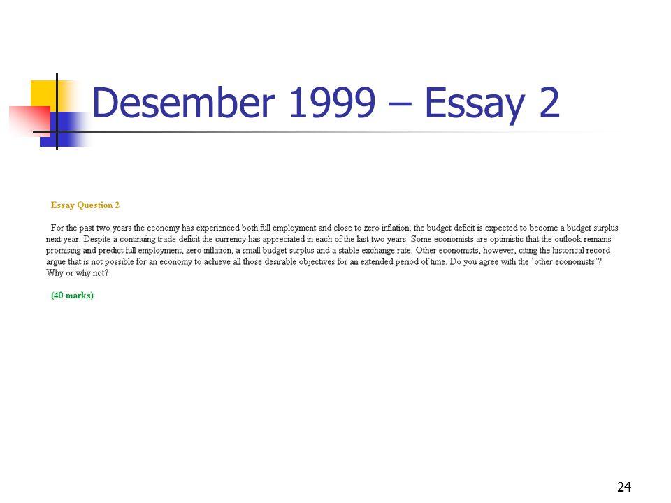24 Desember 1999 – Essay 2