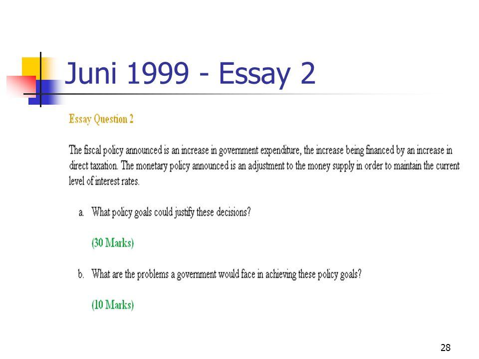 28 Juni 1999 - Essay 2