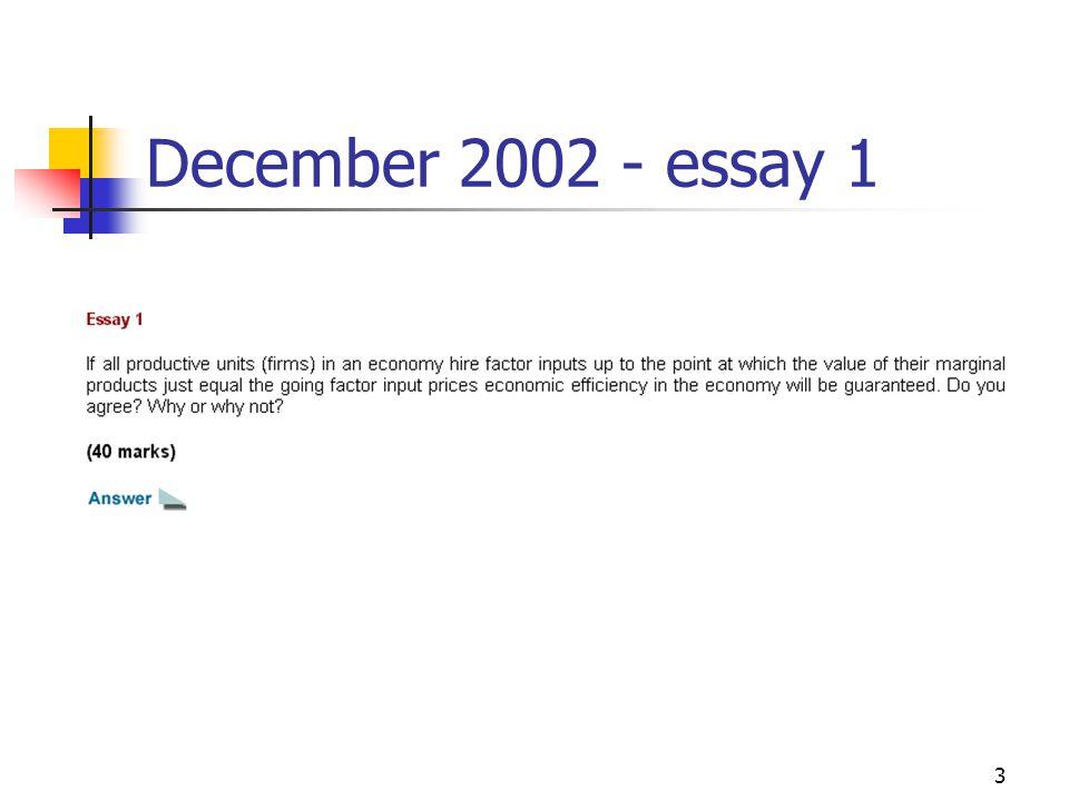 3 December 2002 - essay 1