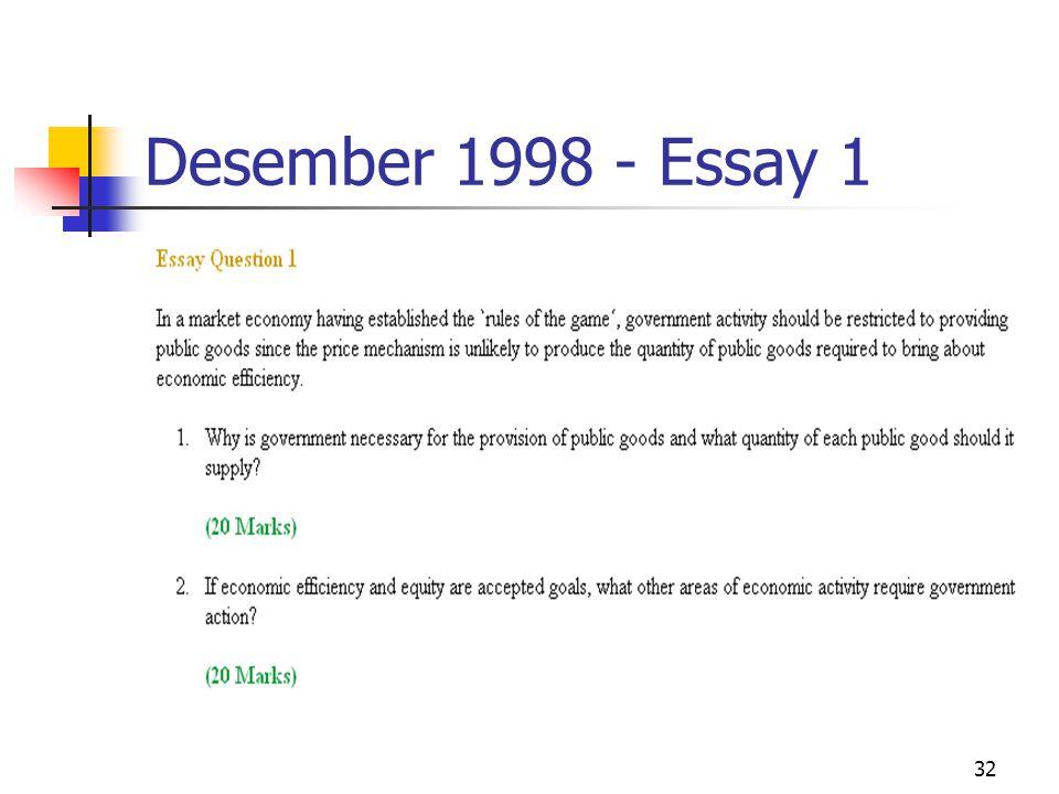 32 Desember 1998 - Essay 1