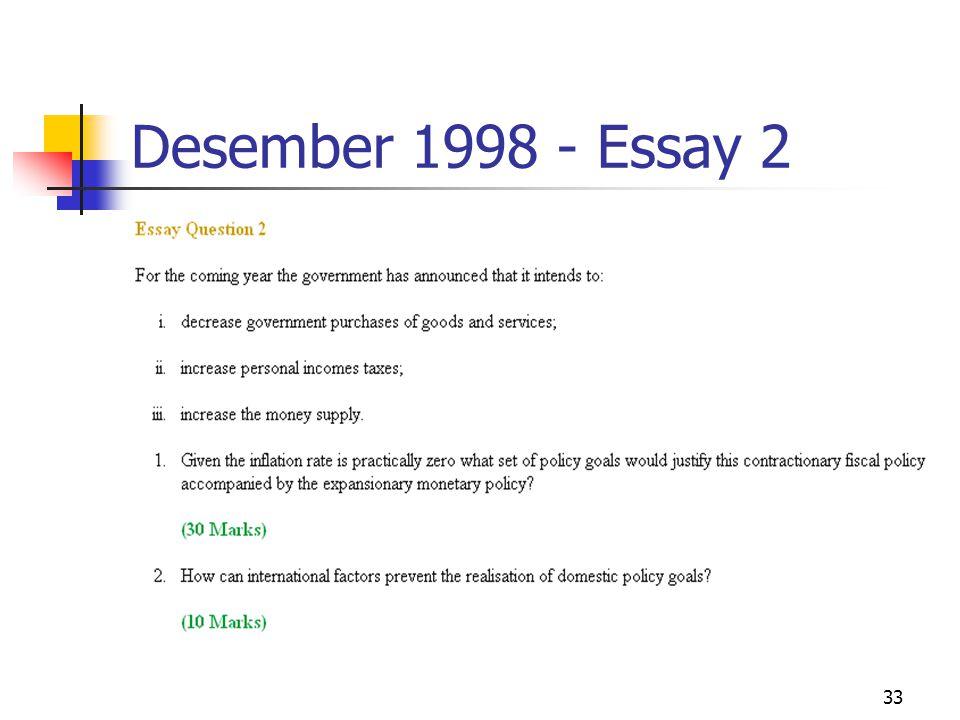 33 Desember 1998 - Essay 2