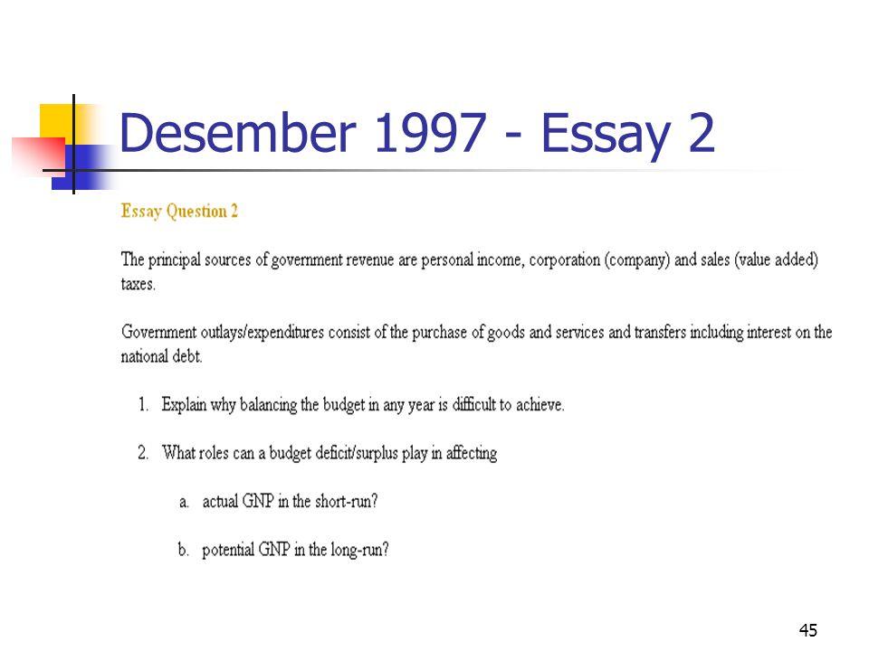 45 Desember 1997 - Essay 2