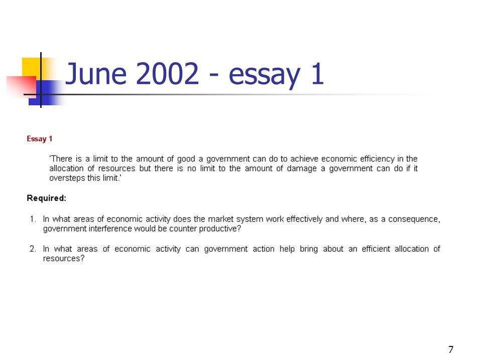 7 June 2002 - essay 1