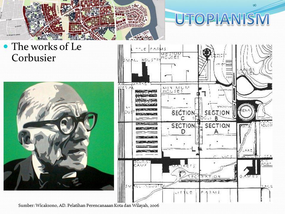 The works of Le Corbusier 8 Sumber: Wicaksono, AD. Pelatihan Perencanaaan Kota dan Wilayah, 2006