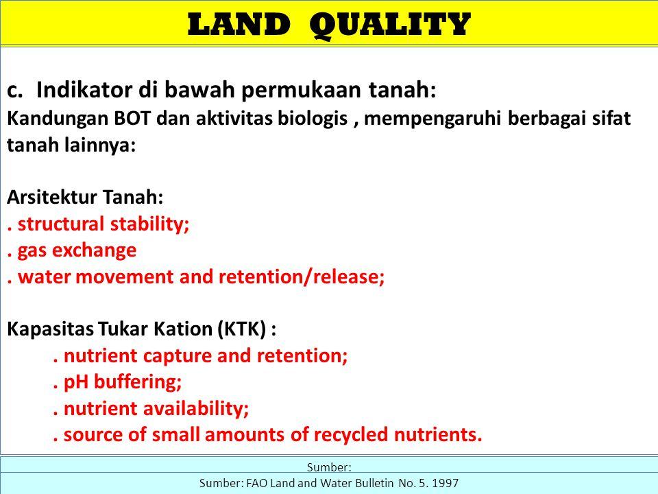 LAND QUALITY c.