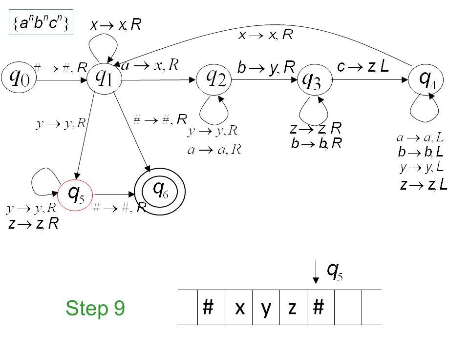 Step 9 # x y z #