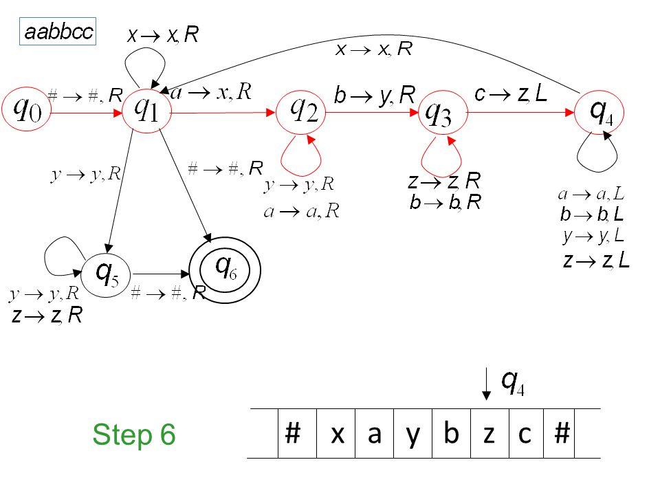 Step 6 # x a y b z c #