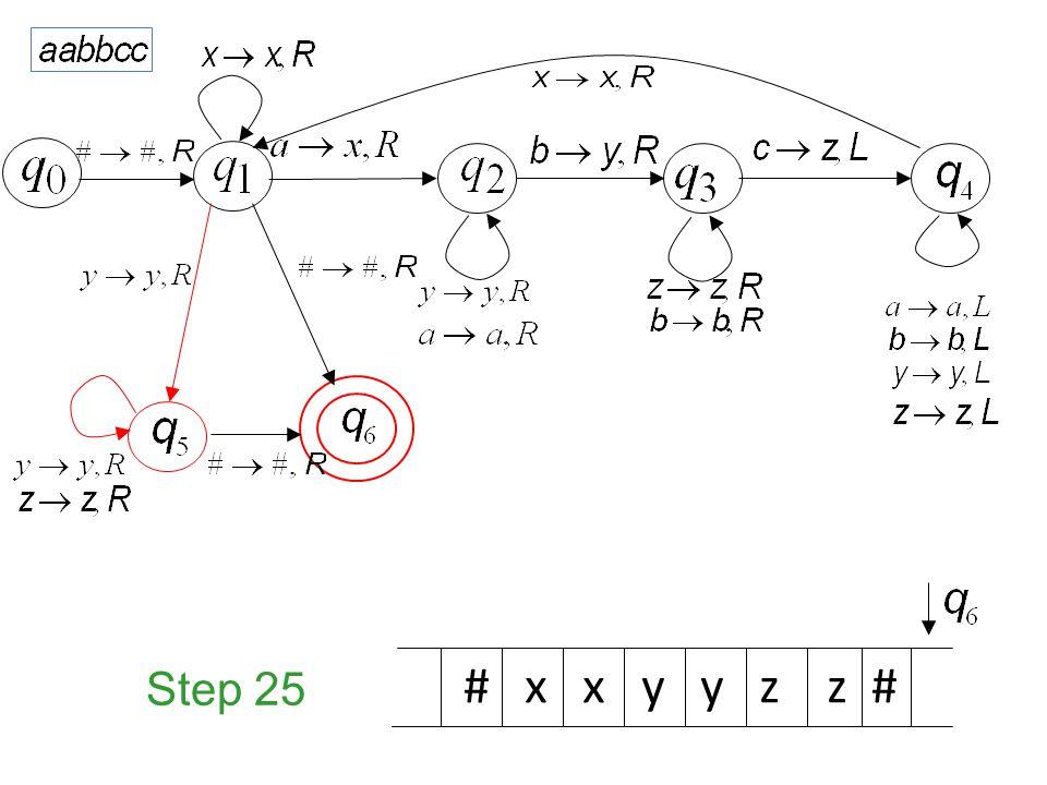Step 25 # x x y y z z #