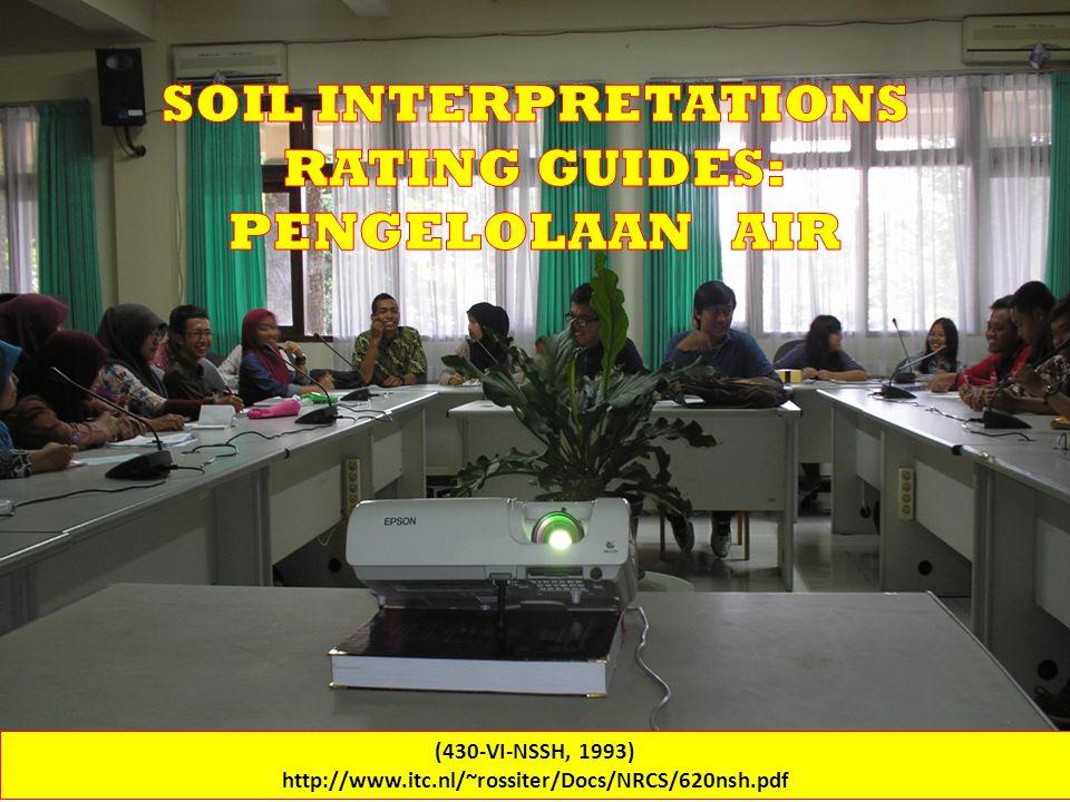 SOIL INTERPRETATIONS RATING GUIDES (430-VI-NSSH, 1993) http://www.itc.nl/~rossiter/Docs/NRCS/620nsh.pdf WATER QUALITY (b) Pesticide loss potential - soil surface runoff.