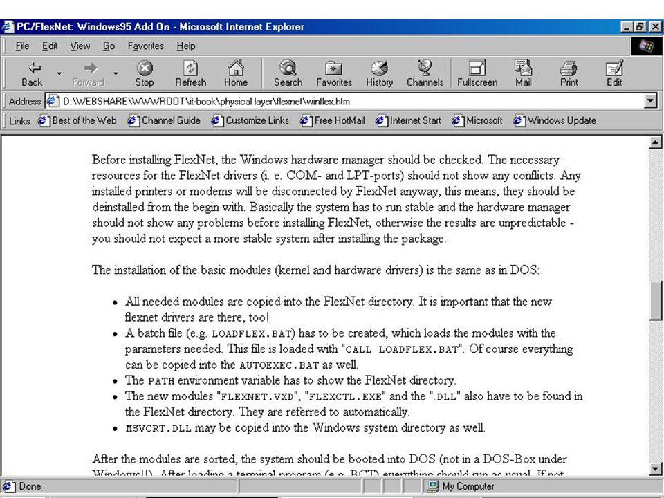 zSpec: y1200-9600bps yPC + Sound Card + Radio zURL: yhttp://home.pages.de/~flexnet/ zSearch Internet: (Keyword) yflexnet