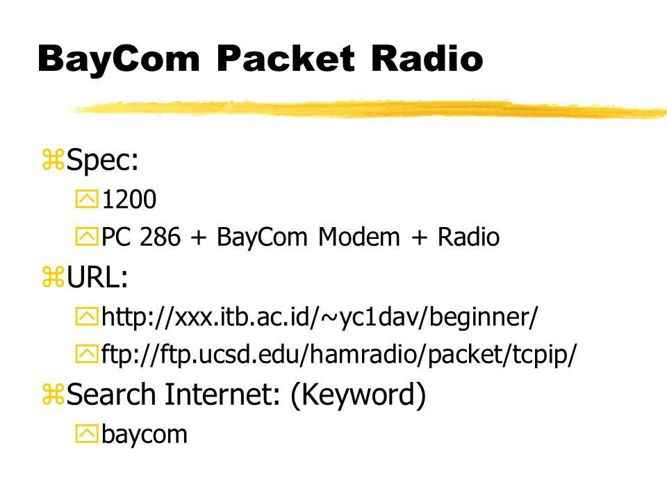 BayCom Packet Radio
