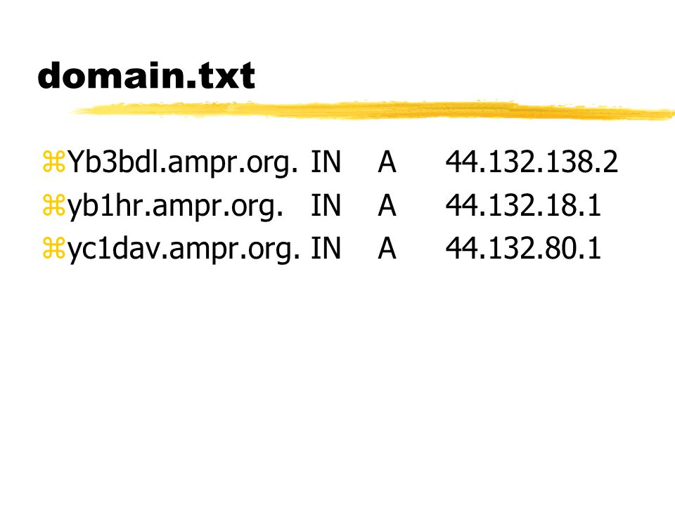 autoexec.nos zhostname yd3fua.ampr.org zax25 mycall yd3fua zip address 44.132.136.10 zattach packet 0x60 ax1 2048 1024 zstart smtp zsmtp gateway 44.132.136.1 zroute add default ax1 44.132.136.1 zroute add 44.132.136/24 ax1 direct