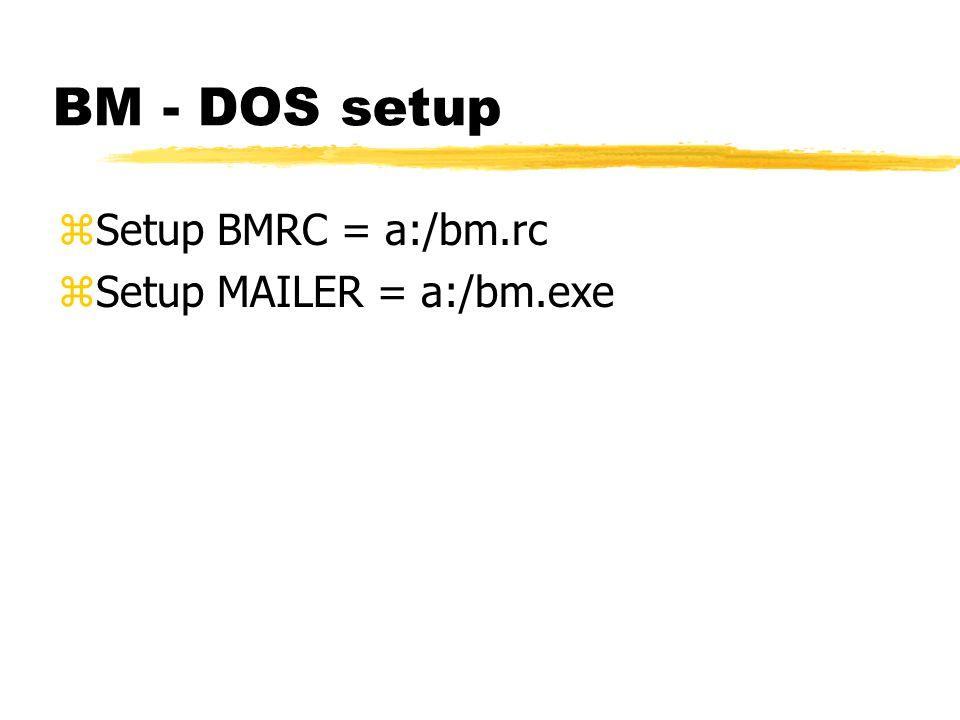 E-mail Setup using BM