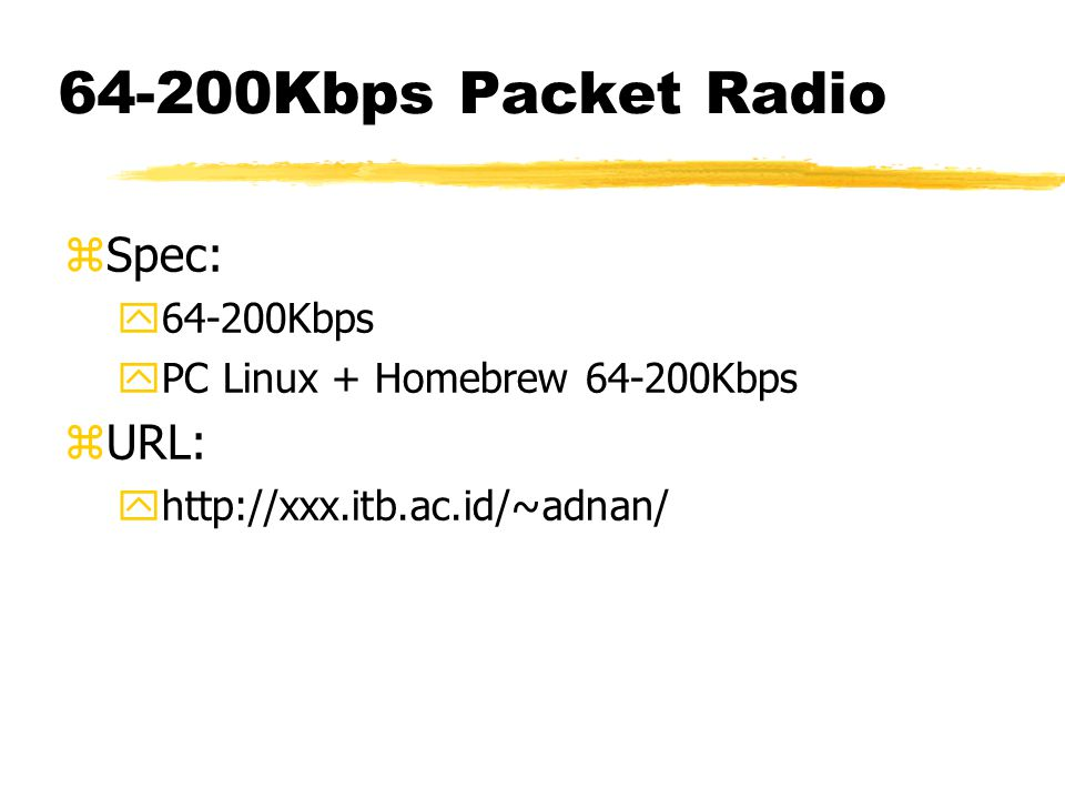 Homebrew 64-200Kbps
