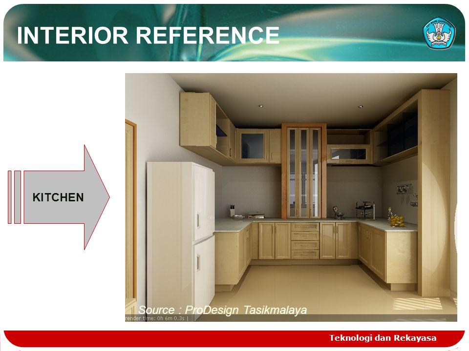 Teknologi dan Rekayasa KITCHEN Source : ProDesign Tasikmalaya INTERIOR REFERENCE