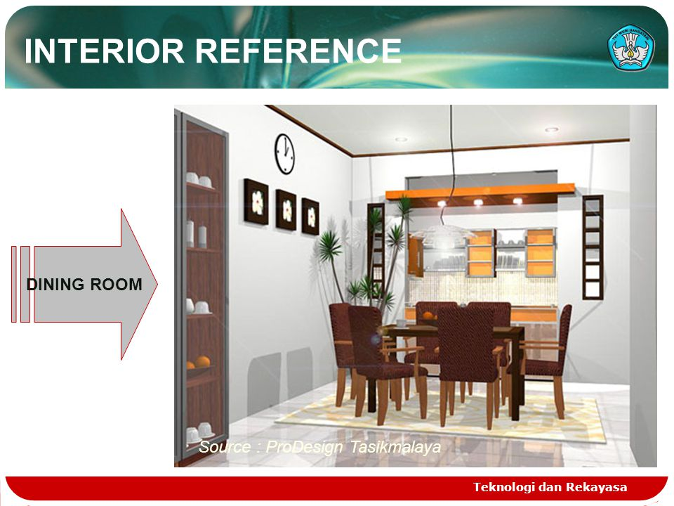 Teknologi dan Rekayasa DINING ROOM Source : ProDesign Tasikmalaya INTERIOR REFERENCE