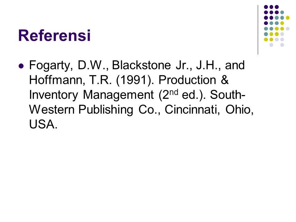 Referensi Fogarty, D.W., Blackstone Jr., J.H., and Hoffmann, T.R.