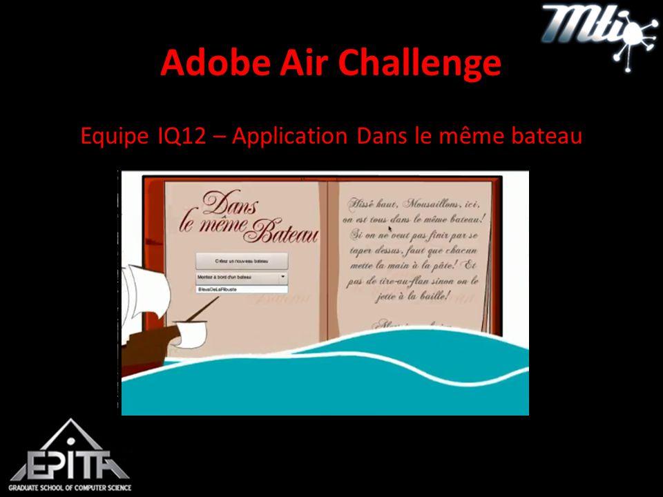 Adobe Air Challenge Equipe IQ12 – Application Dans le même bateau