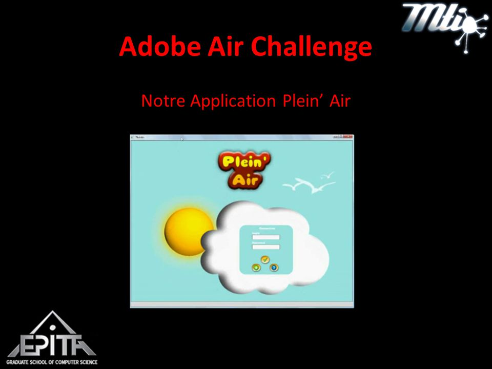 Adobe Air Challenge Notre Application Plein' Air