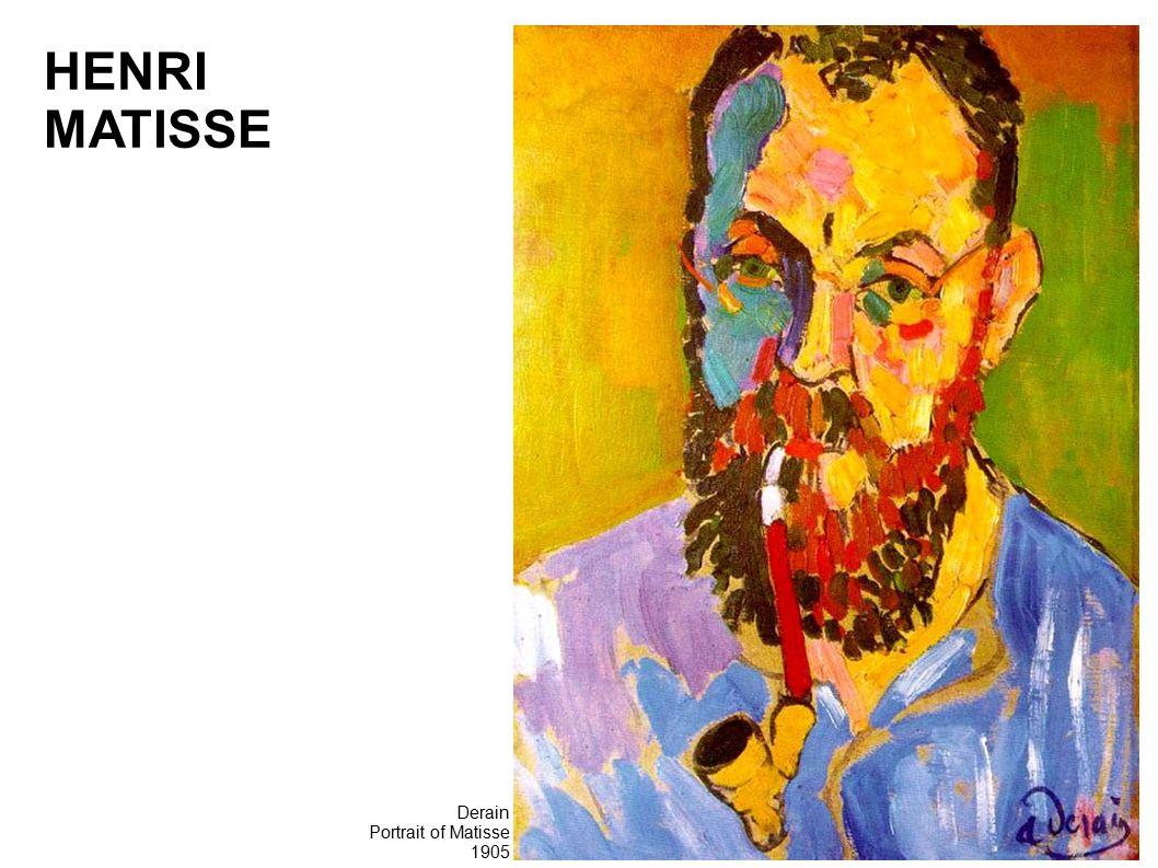 Derain Portrait of Matisse 1905 HENRI MATISSE