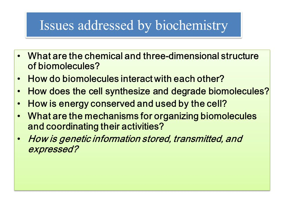 What is biochemistry.