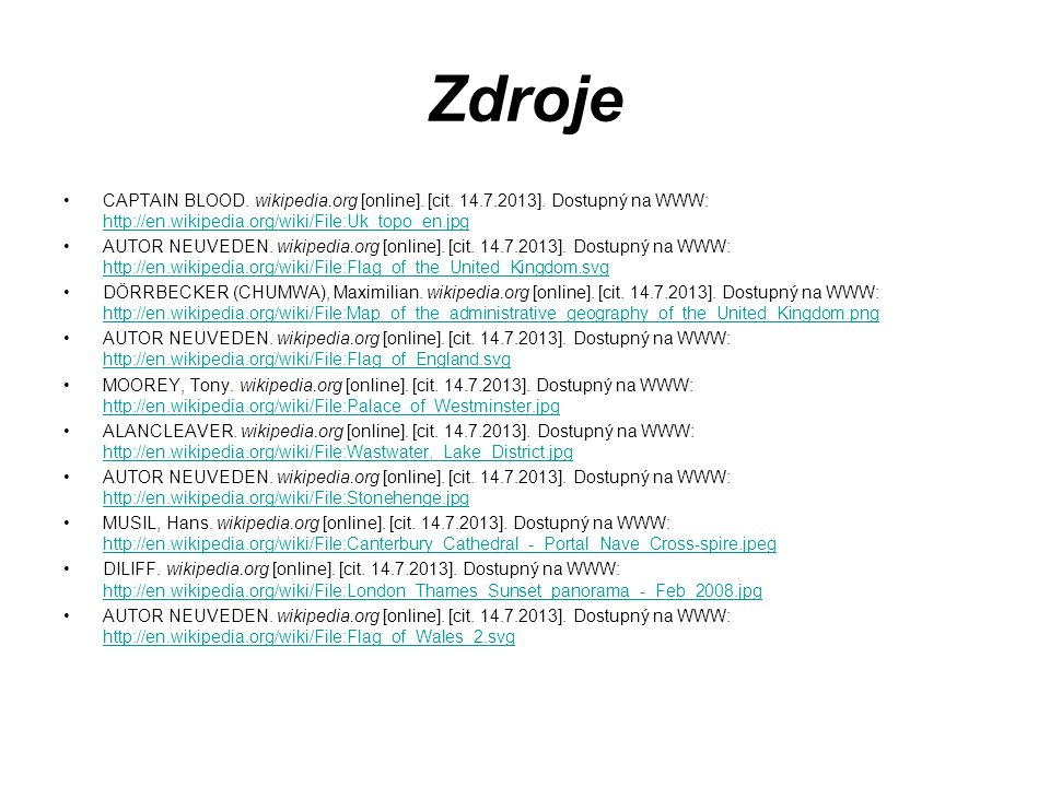 Zdroje CAPTAIN BLOOD. wikipedia.org [online]. [cit.