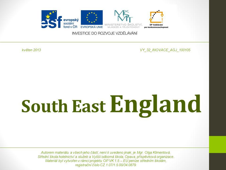 South East England Autorem materiálu a všech jeho částí, není-li uvedeno jinak, je Mgr.