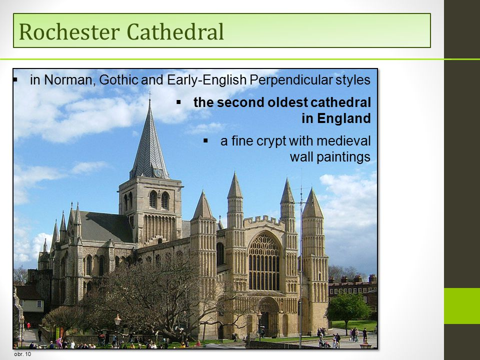 Rochester Cathedral obr. 10  in Norman, Gothic and Early-English Perpendicular styles  the second oldest cathedral in England  a fine crypt with me
