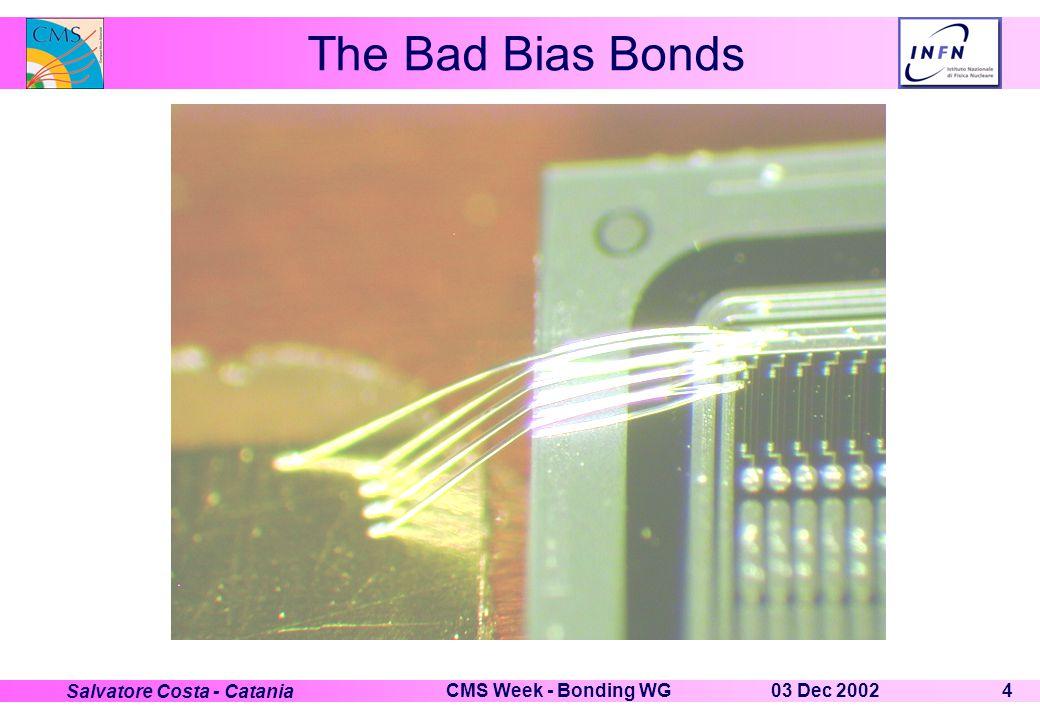 03 Dec 2002CMS Week - Bonding WG4 Salvatore Costa - Catania The Bad Bias Bonds