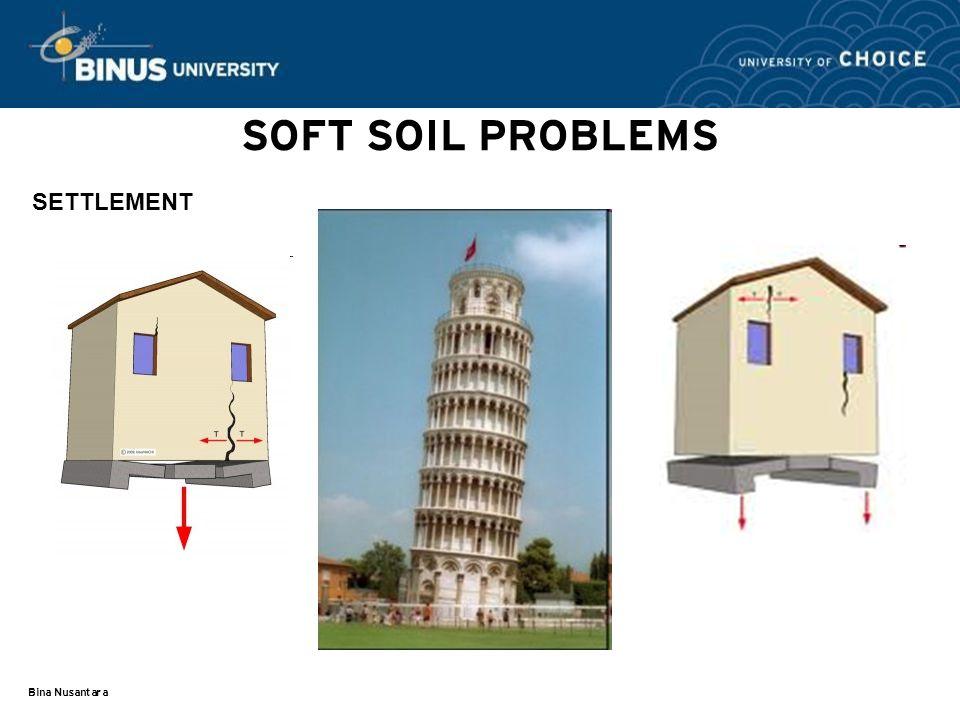 Bina Nusantara SOFT SOIL PROBLEMS SETTLEMENT