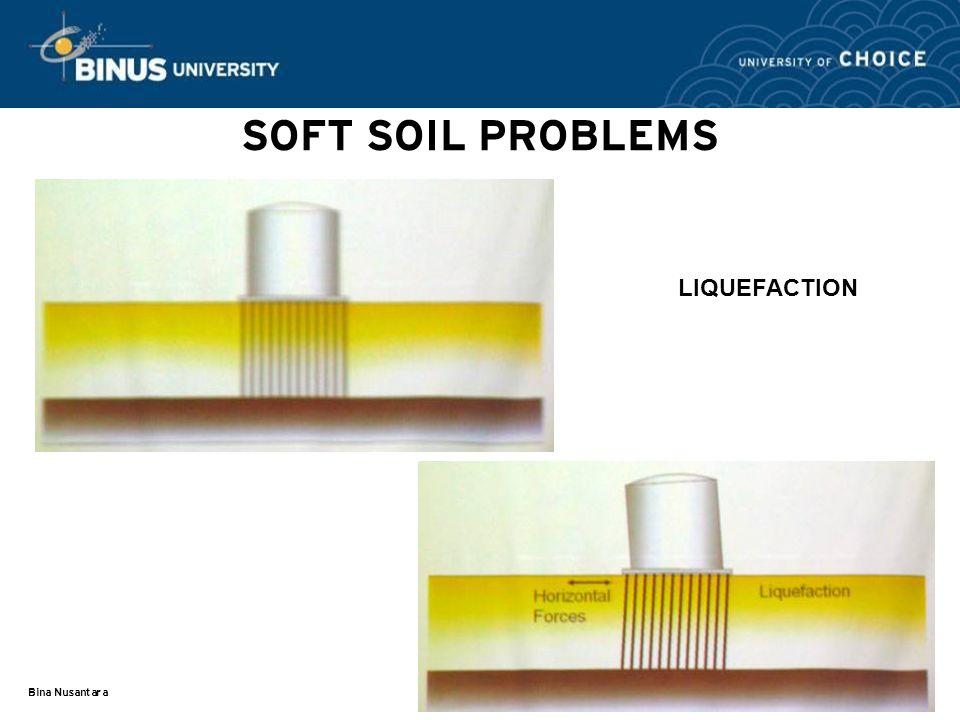 Bina Nusantara SOFT SOIL PROBLEMS LIQUEFACTION