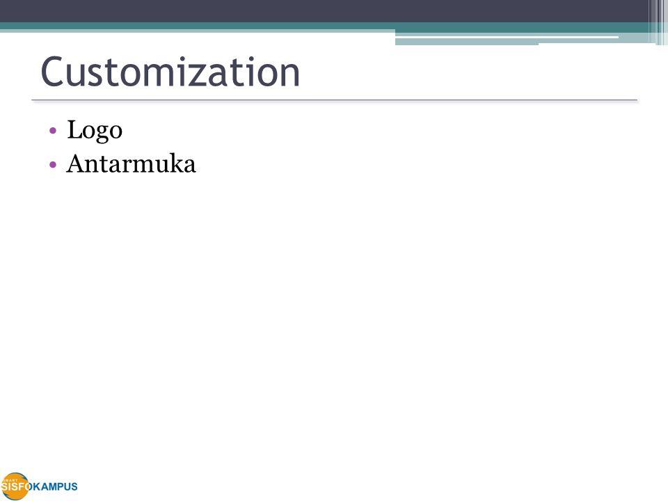 Customization Logo Antarmuka