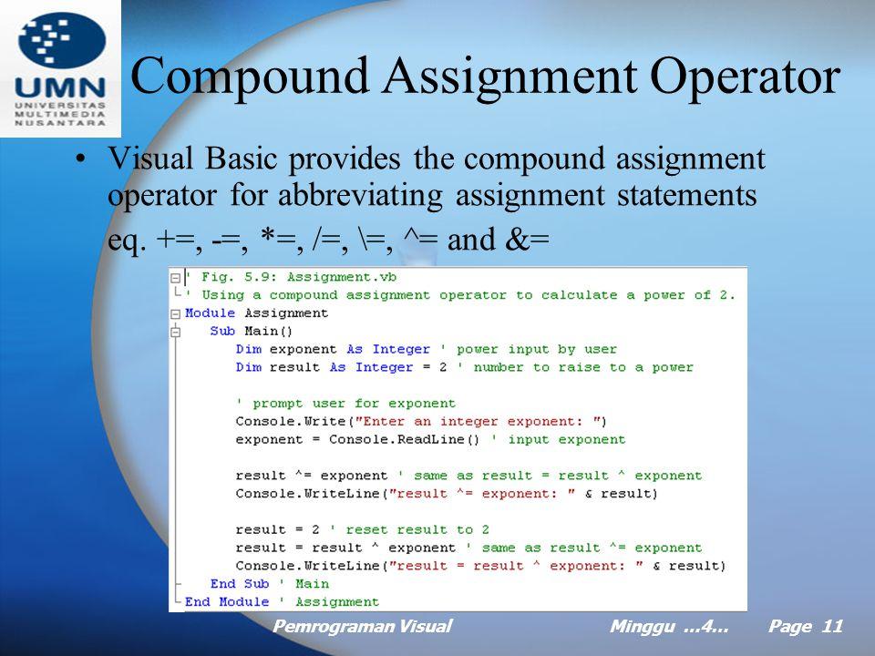 Pemrograman VisualMinggu …4… Page 10 Demo Do Until
