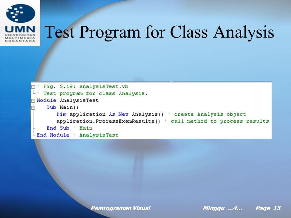 Pemrograman VisualMinggu …4… Page 12 Nested Control Statement