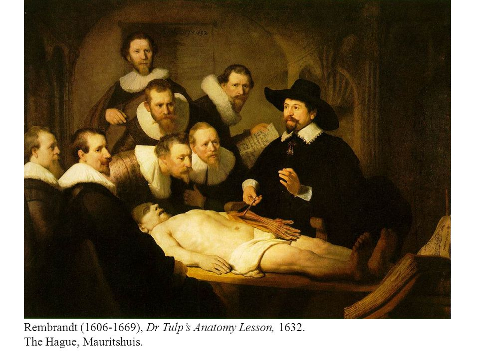Rembrandt (1606-1669), Dr Tulp's Anatomy Lesson, 1632. The Hague, Mauritshuis.
