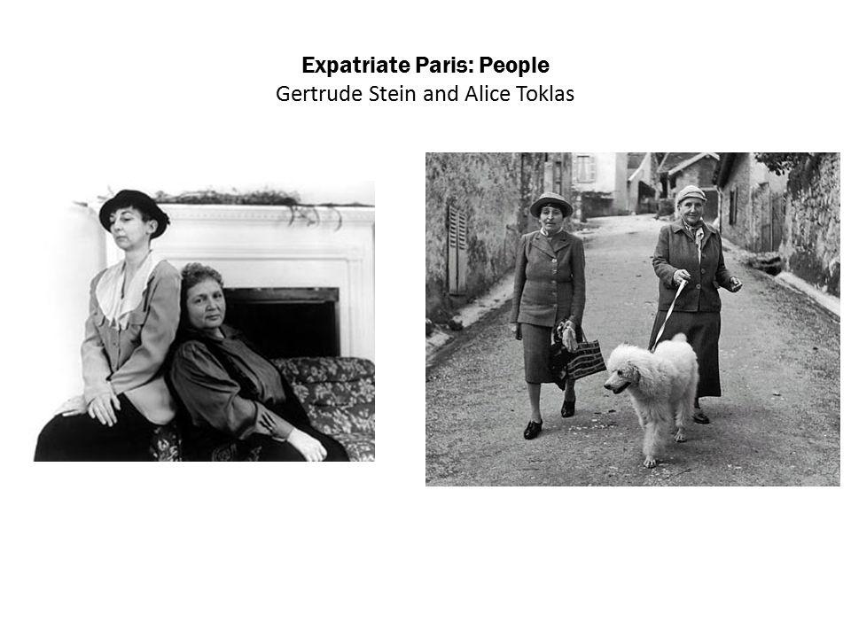 Expatriate Paris: People Gertrude Stein and Alice Toklas
