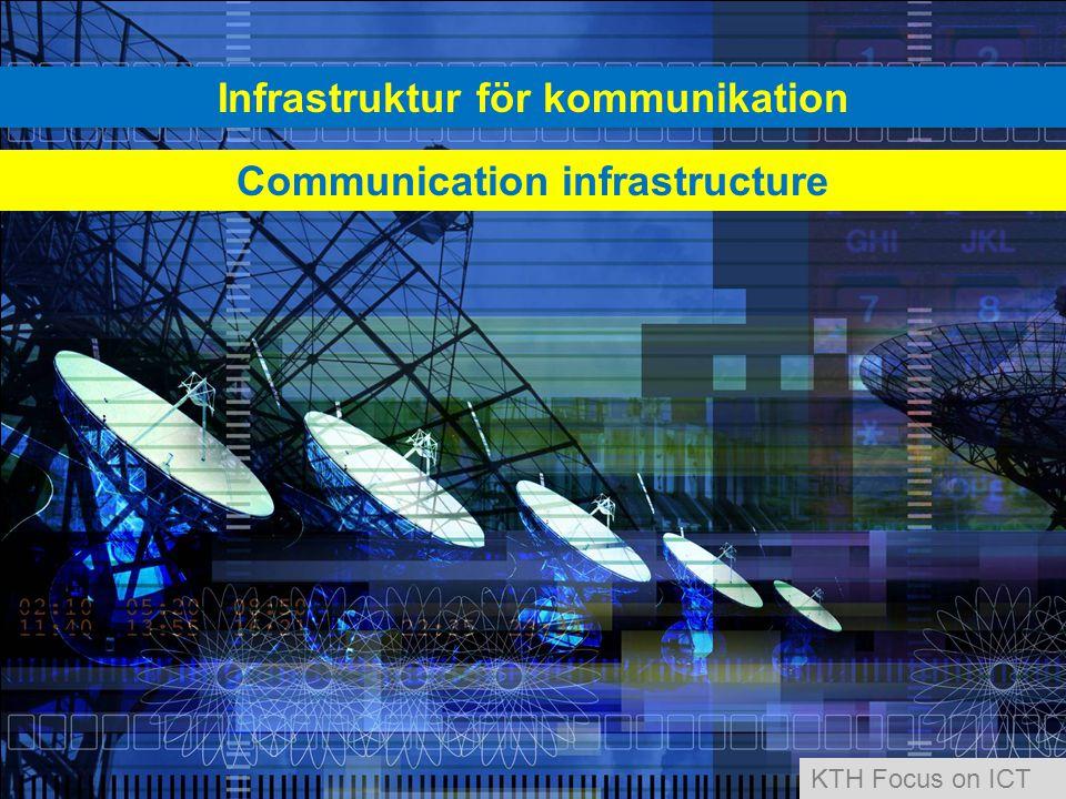 Infrastruktur för kommunikation Communication infrastructure KTH Focus on ICT