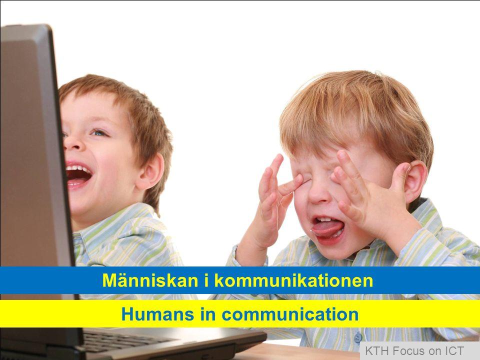 Människan i kommunikationen Humans in communication KTH Focus on ICT
