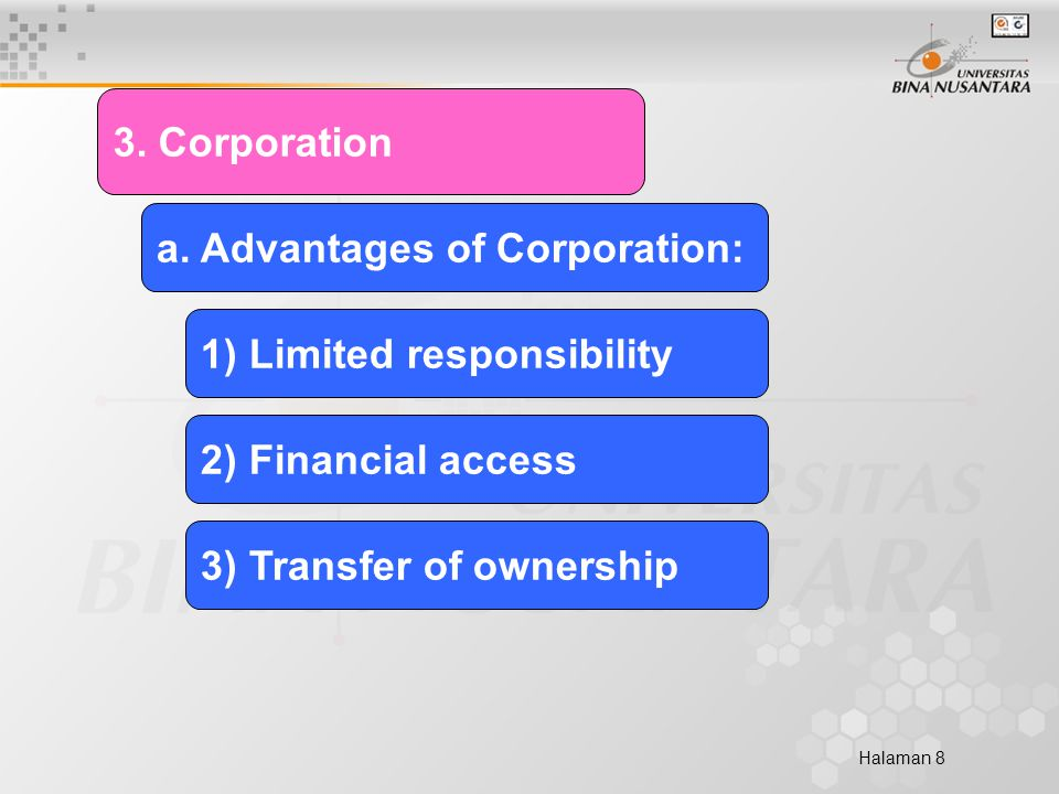 Halaman 8 3. Corporation a.