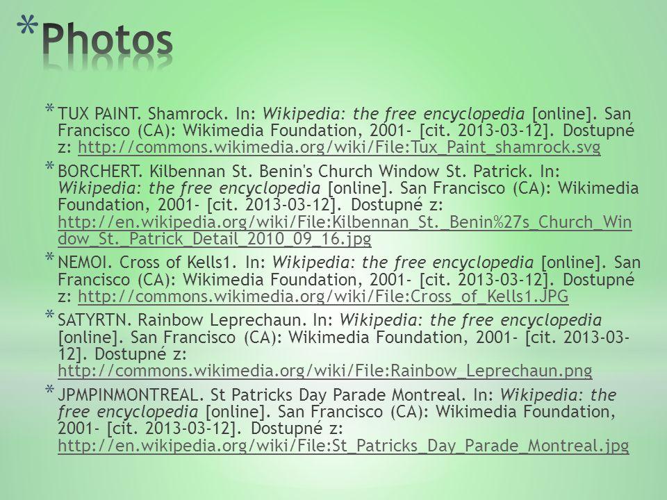 * TUX PAINT. Shamrock. In: Wikipedia: the free encyclopedia [online].