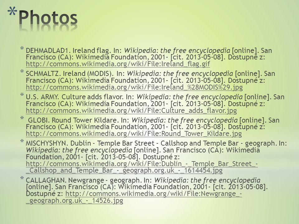 * DEHMADLAD1.Ireland flag. In: Wikipedia: the free encyclopedia [online].